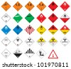 Hazardous pictograms - goods signs Globally Harmonized System of Classification and Labeling of Chemicals or GHS - stock vector