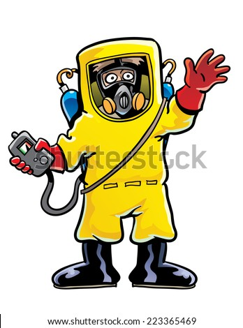 Hazmat Suit - stock vector