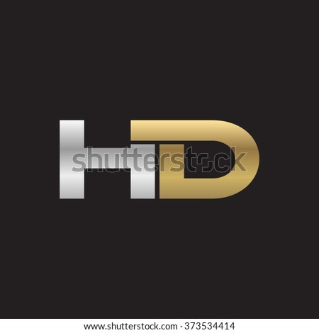 Hd company linked letter logo golden stock photo photo vector hd company linked letter logo golden silver black background thecheapjerseys Images