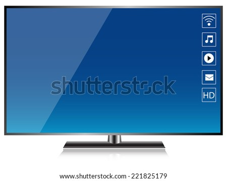 HD TV Smart TV Screen isolated vector - stock vector