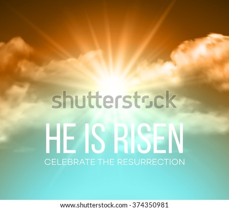 He is risen. Easter background. Vector illustration  - stock vector