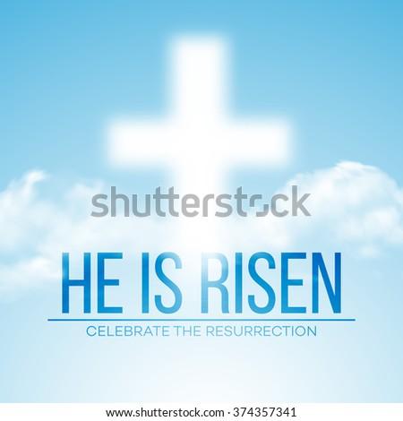 He is risen. Easter background. Vector illustration - stock vector