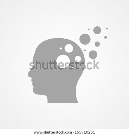 Head and circles - stock vector
