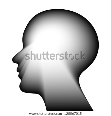 head for the concept of thought. Isolated on a white background - stock vector