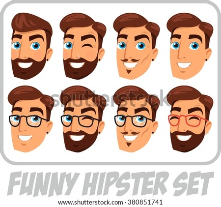 head funny hipster set