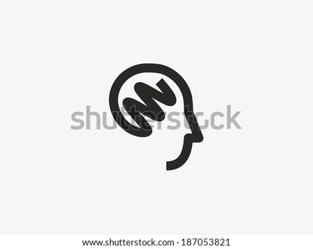 Head icon. - stock vector