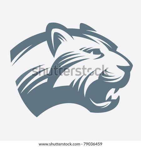 Head Jaguar - stock vector