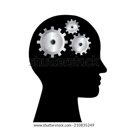 head jigsaw.eps 10 - stock vector