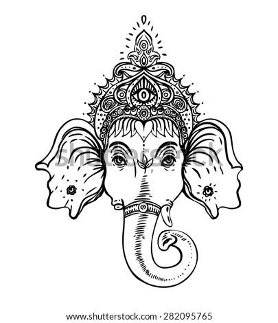 Ganesha Hindu Elephant...