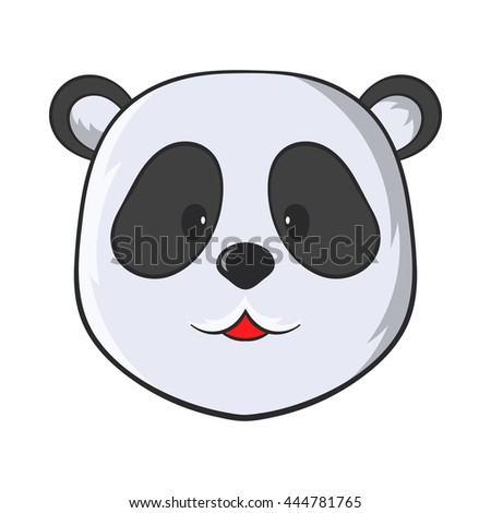 Head of panda bear icon in cartoon style on a white background - stock vector