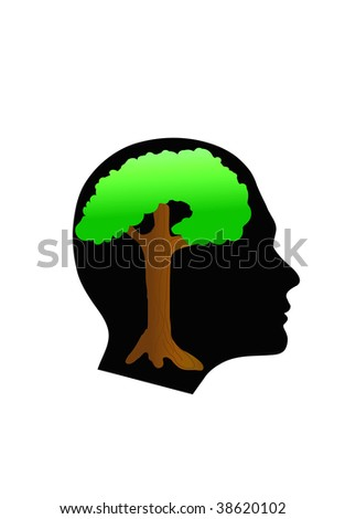 head tree - stock vector