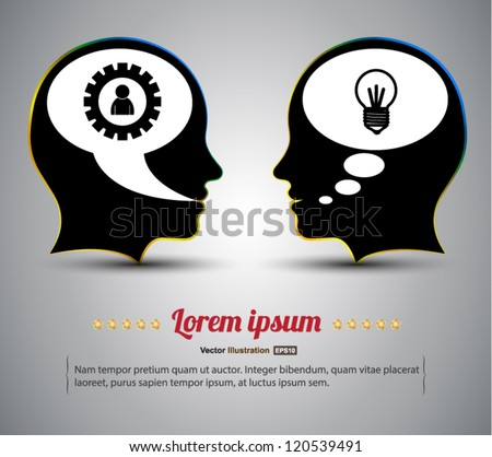 Head vector idea concept / business concept / can use for brochure - stock vector