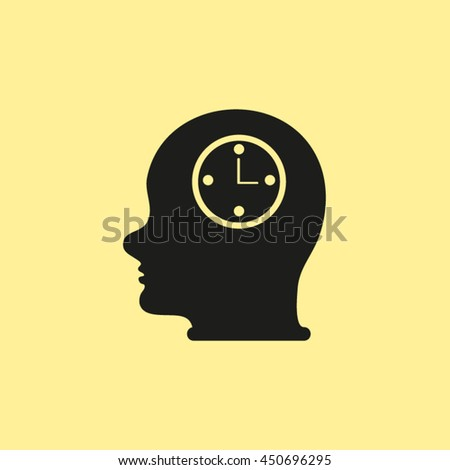 Head With Clock .