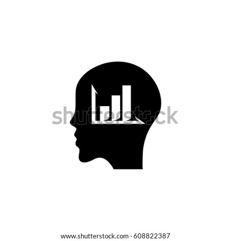 Head diagram vector logo illustration isolated stock vector head with diagram vector logo illustration isolated sign symbol icon pictogram for web graphics ccuart Image collections
