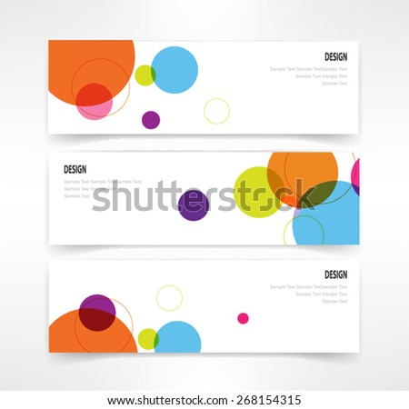 header set of three banner designs business vector - stock vector