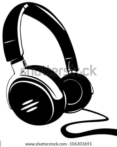 Headphone - stock vector