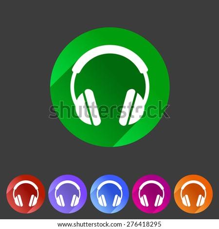 headphone dj icon sign symbol logo label - stock vector