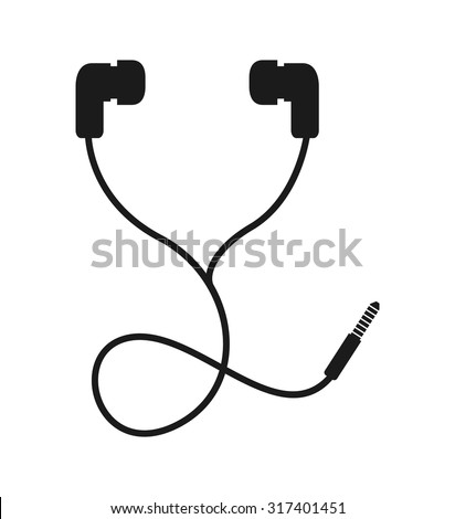 headphone icon design, vector illustration eps10 graphic  - stock vector