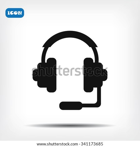 headphones icon - stock vector
