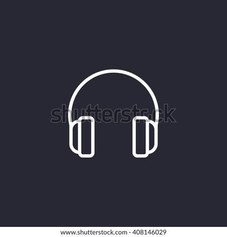 headphones Icon, headphones Icon Vector, headphones Icon Art, headphones Icon eps, headphones Icon Image, headphones Icon logo, headphones Icon Sign, headphones icon Flat, headphones Icon design - stock vector