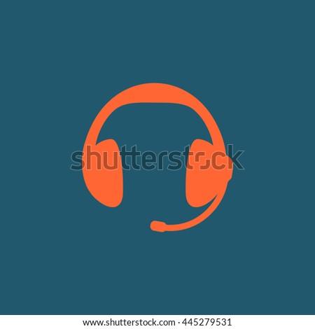 Headphones icon.Headphones icon Vector.Headphones icon Art.Headphones icon eps.Headphones icon Image.Headphones icon logo.Headphones icon Sign.Headphones icon Flat.Headphones icon design - stock vector