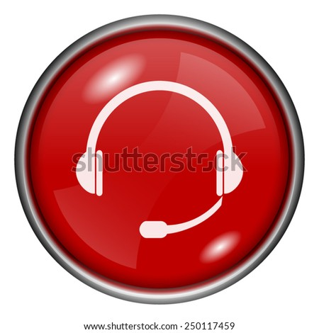 Headphones icon. Internet button on white background.  - stock vector