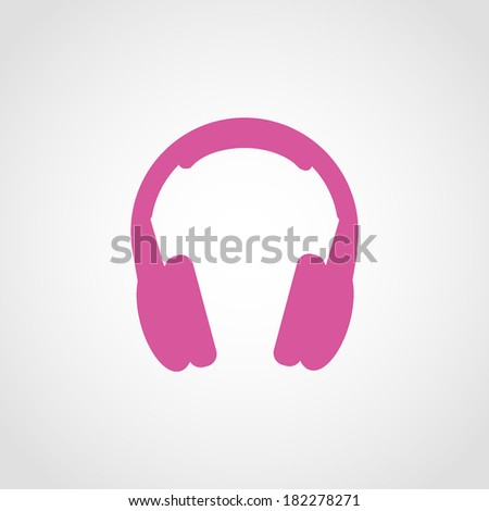 Headphones Icon Isolated on White Background - stock vector