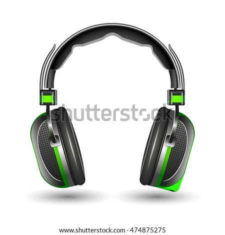 Headphones, isolated on a white background, vector illustration.