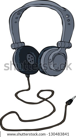 Headphones on a white background vector illustration - stock vector