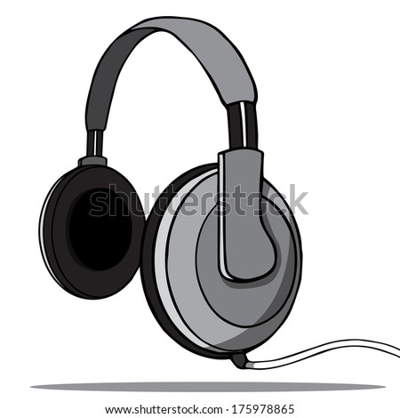 Headphones on a white background. Vector illustration
