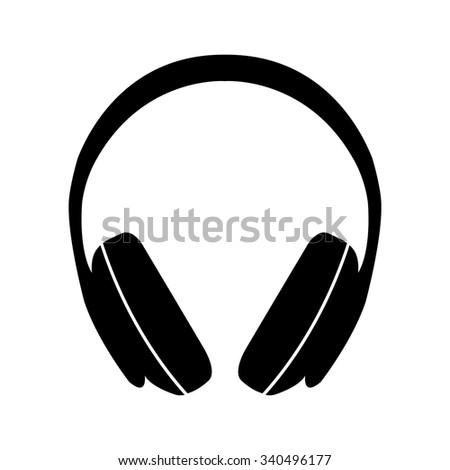 headphones vector icon stock vector 340496177 shutterstock rh shutterstock com headphones vector art headphones vector free