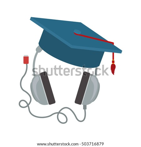 headphones with graduation cap