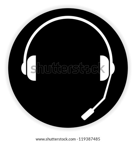 headset symbol - stock vector