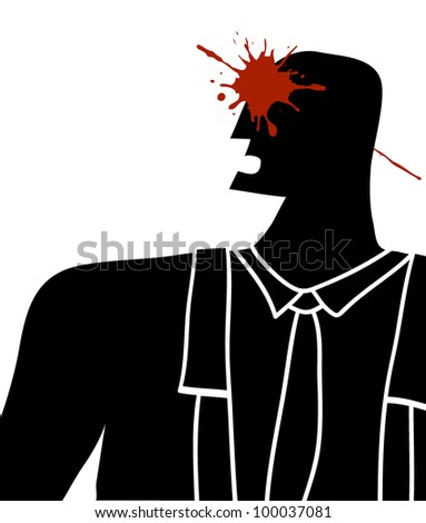 headshot in black silhouette man