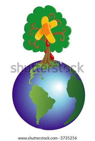 Heal The World - stock vector