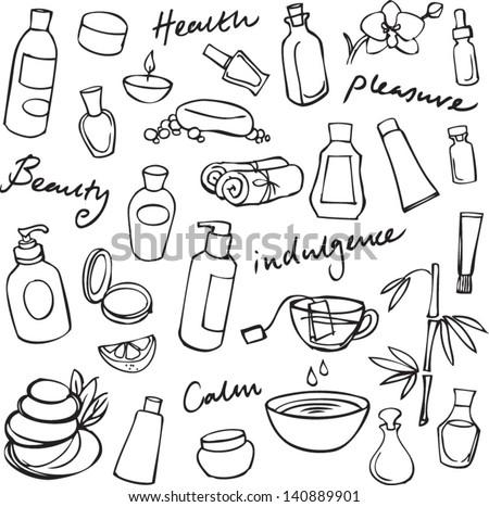 Health beauty & wellness icons - stock vector