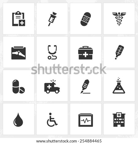 Health care and medical vector icons. File format is EPS8. - stock vector