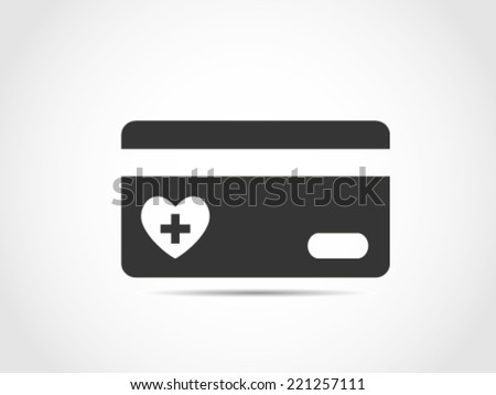 Health Care Credit Card - stock vector