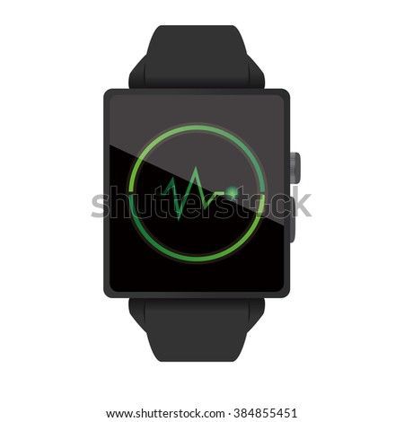 Health care display of the Smart watch illustration on white background