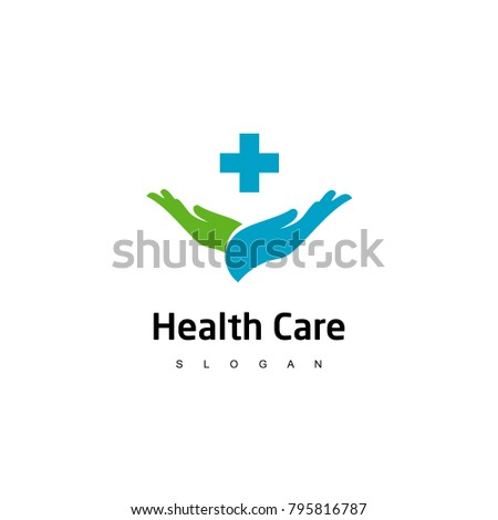 Health Care Logo Medical Center Line Stock Vector 2018 795816787