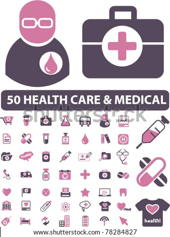 health care & medical icons, signs, vector illustrations - stock vector
