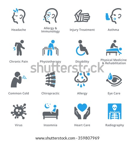 Health Conditions & Diseases Icons - Sympa Series  - stock vector