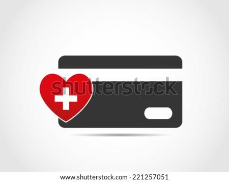 Health Debit Care - stock vector