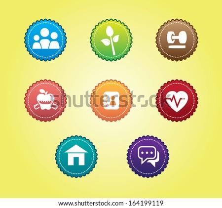 health icon - stock vector