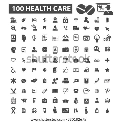health icons, health logo, health care icons vector, health care flat illustration concept, health care infographics elements isolated on white background, health care logo, health care symbols set - stock vector