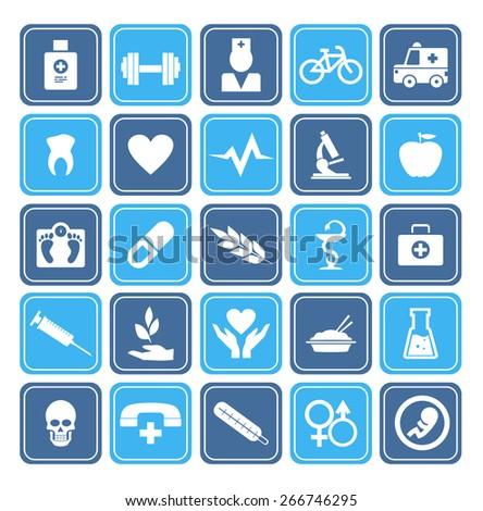 Health Icons set - stock vector