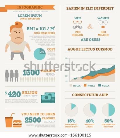 Health infographics , eps10 vector format - stock vector