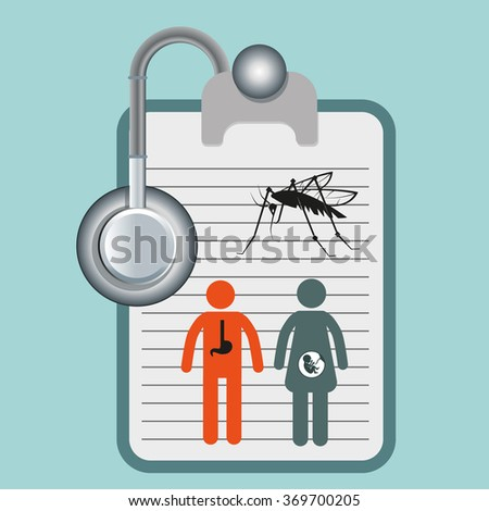 health kit and epidemic alarm - stock vector