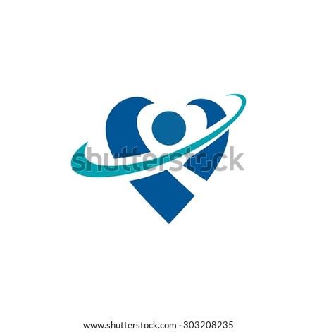 Health Logo Template - stock vector