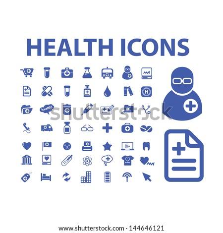 health, medicine icons, signs set, vector - stock vector